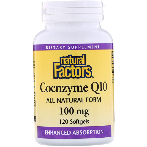 Coenzima Q10, 100 mg, 120 Softgels