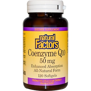 Natural Factors, Coenzyme Q10, 50 mg, 120 Softgels
