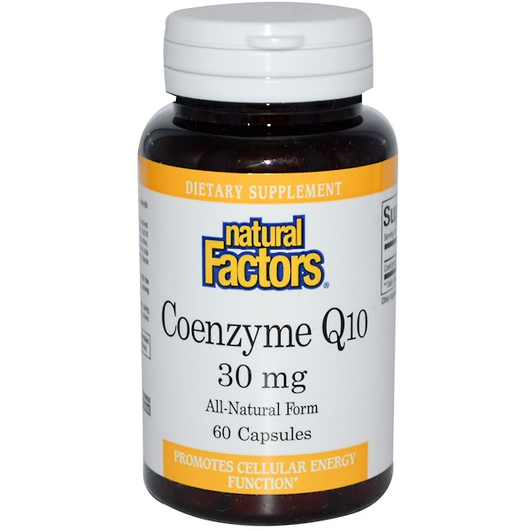 Natural Factors, Coenzyme Q10, 30 mg, 60 Capsules (Discontinued Item)