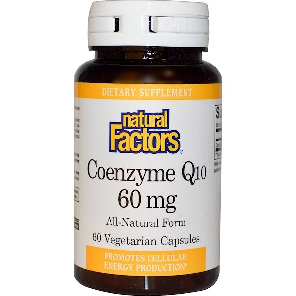 Natural Factors, Coenzyme Q10, 60 mg, 60 Veggie Caps (Discontinued Item)