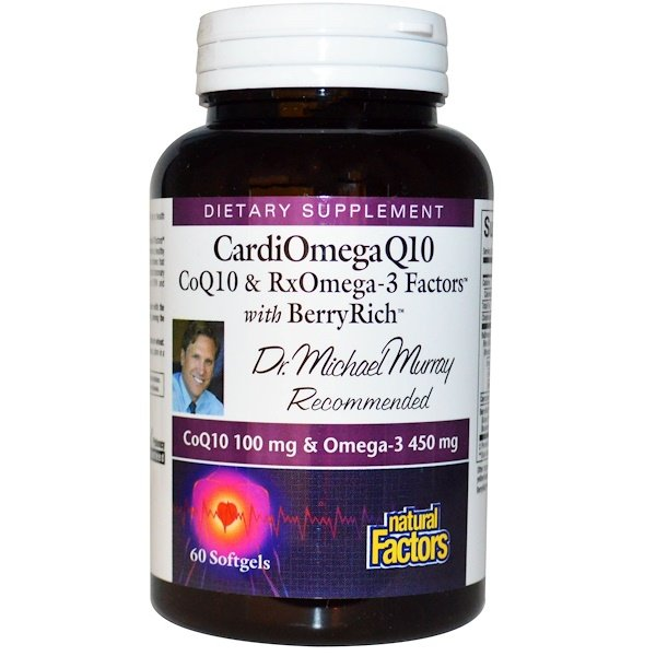 Natural Factors, CardioOmega Q10, with Berry Rich, 60 Softgels (Discontinued Item)