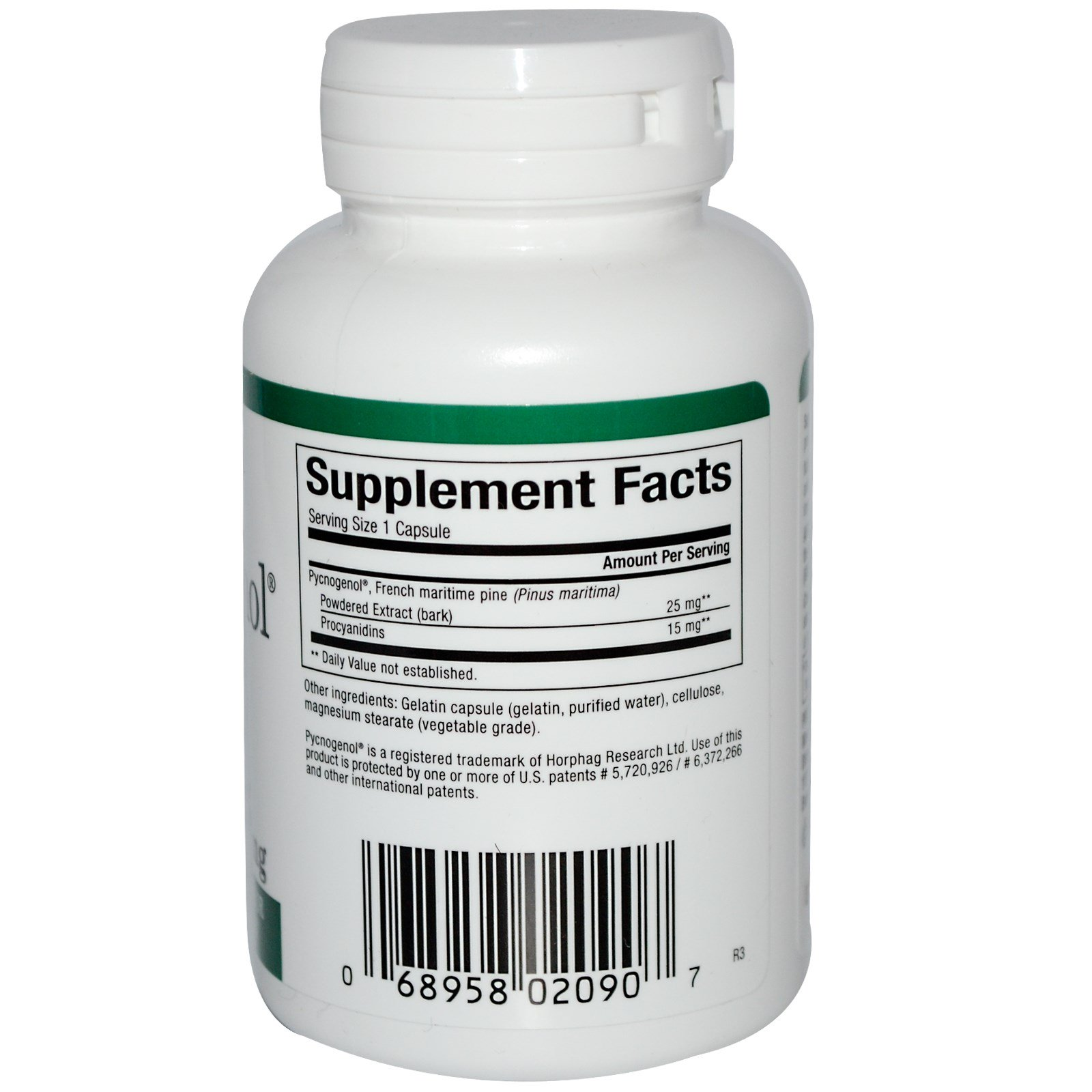 Natural Factors, Пикногенол, 25 мг, 60 капсул