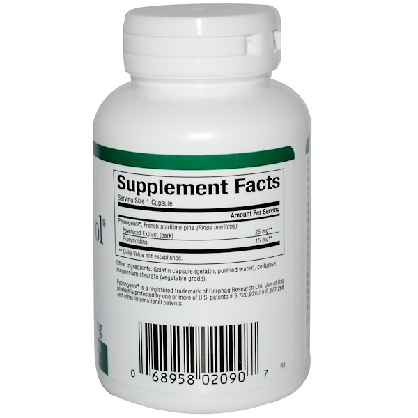 Natural Factors, Pycnogenol, 25 mg, 60 Capsules