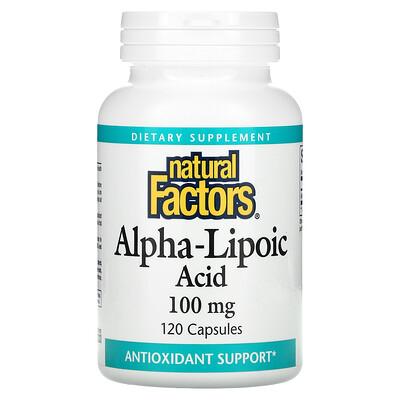 Купить Natural Factors Alpha-Lipoic Acid, 100 mg, 120 Capsules