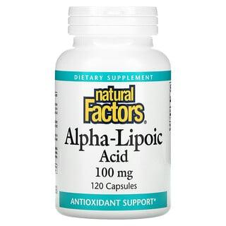 Natural Factors, Alpha-Lipoic Acid, 100 mg, 120 Capsules
