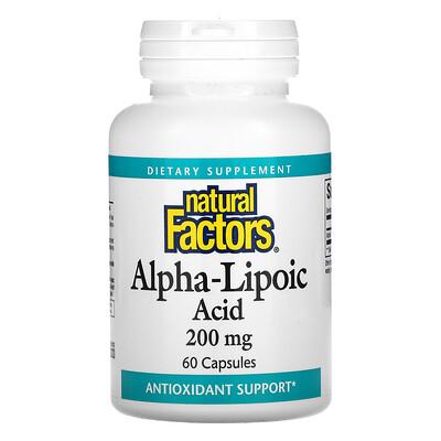 Natural Factors Alpha-Lipoic Acid, 200 mg, 60 Capsules