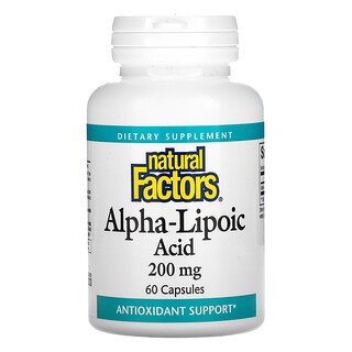 Natural Factors, Alpha-Lipoic Acid, 200 mg, 60 Capsules