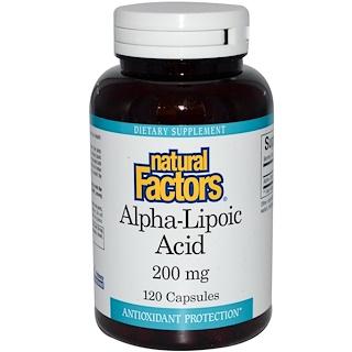 Natural Factors, Alpha-Lipoic Acid, 200 mg, 120 Capsules