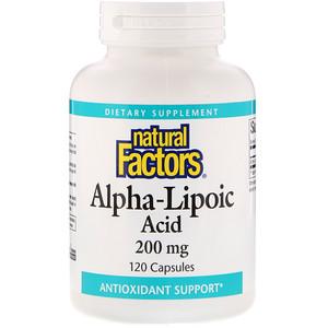 Натурал Факторс, Alpha-Lipoic Acid, 200 mg, 120 Capsules отзывы покупателей