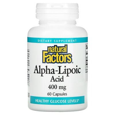 Купить Natural Factors Alpha-Lipoic Acid, 400 mg, 60 Capsules