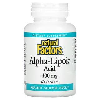 Natural Factors, Alpha-Lipoic Acid, 400 mg, 60 Capsules