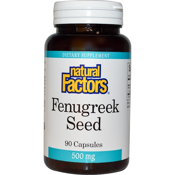 Natural Factors, Fenugreek Seed, 500 mg, 90 Capsules (Discontinued Item)