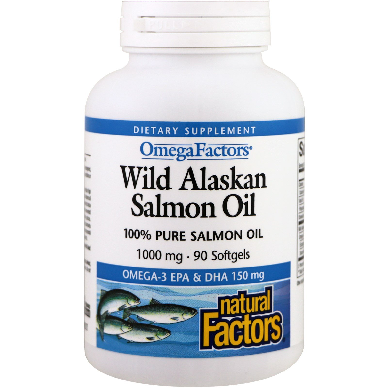 Natural Factors, Wild Alaskan Salmon Oil, 1000 mg, 90 Softgels