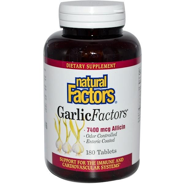 Natural Factors, GarlicFactors, 180 Tablets (Discontinued Item)