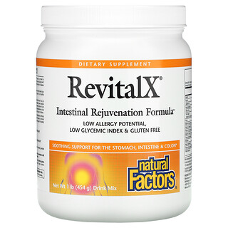 Natural Factors, RevitalX,肠道新生配方混合饮品,1 磅(454 克)