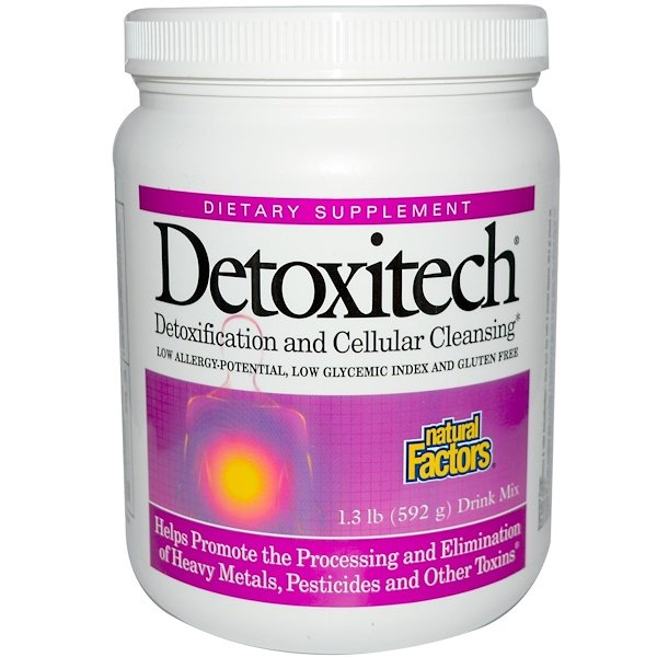 Natural Factors, Detoxitech Detoxification and Cellular Cleansing, 1.3 lb (592 g) (Discontinued Item)