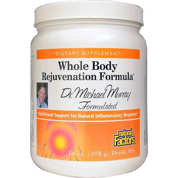 Natural Factors, Whole Body Rejuvenation Formula, Drink Mix, 14 oz (398 g) (Discontinued Item)