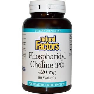 Natural Factors, Phosphatidyl Choline (PC), 420 mg, 90 Softgels