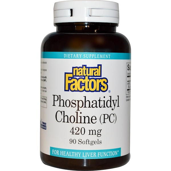 Natural Factors, Phosphatidyl Choline (PC), 420 mg, 90 Softgels