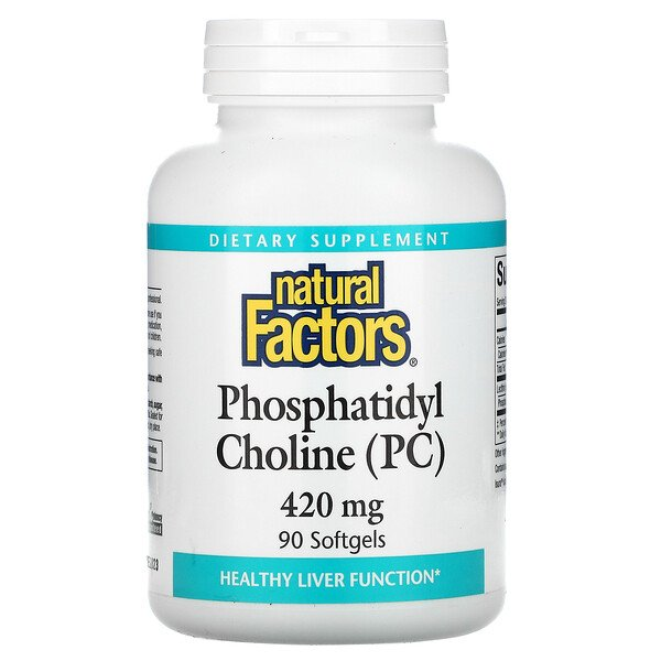 Phosphatidyl Choline (PC), 420 mg, 90 Softgels