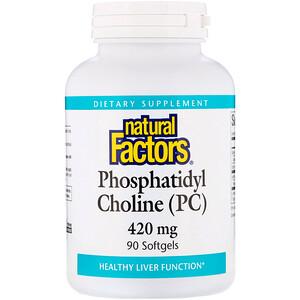 Натурал Факторс, Phosphatidyl Choline (PC), 420 mg, 90 Softgels отзывы покупателей