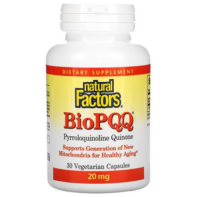 Купить Natural Factors BioPQQ, 30 Vegetarian Capsules