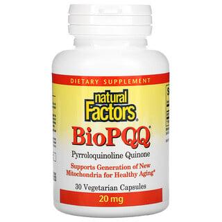 Natural Factors, BioPQQ, 20 mg, 30 Vegetarian Capsules