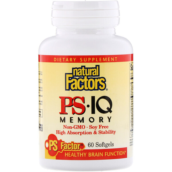 Natural Factors, PS• IQ Memory, 60 Softgels