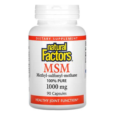 Natural Factors MSM, 1,000 mg, 90 Capsules