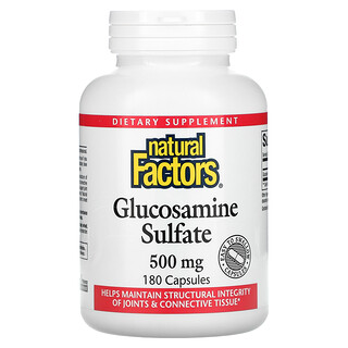Natural Factors, Glucosamine Sulfate, 500 mg, 180 Capsules