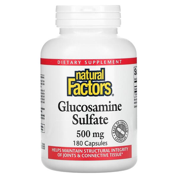 Glucosamine Sulfate, 500 mg, 180 Capsules