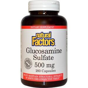 Натурал Факторс, Glucosamine Sulfate, 500 mg, 180 Capsules отзывы покупателей