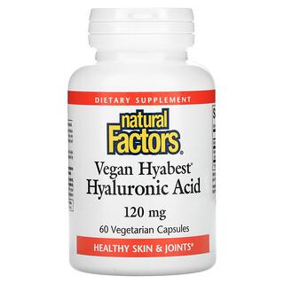 Natural Factors, Vegan Hyabest Hyaluronic Acid, 120 mg, 60 Vegetarian Capsules