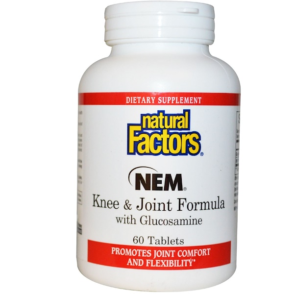 Natural Factors, NEM Knee & Joint Formula with Glucosamine, 60 Tablets