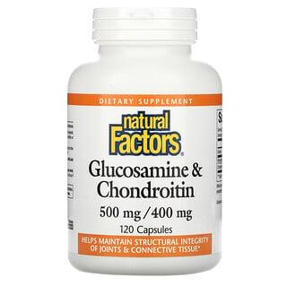 Natural Factors, Glucosamine & Chondroitin, 500 mg/400 mg, 120 Capsules
