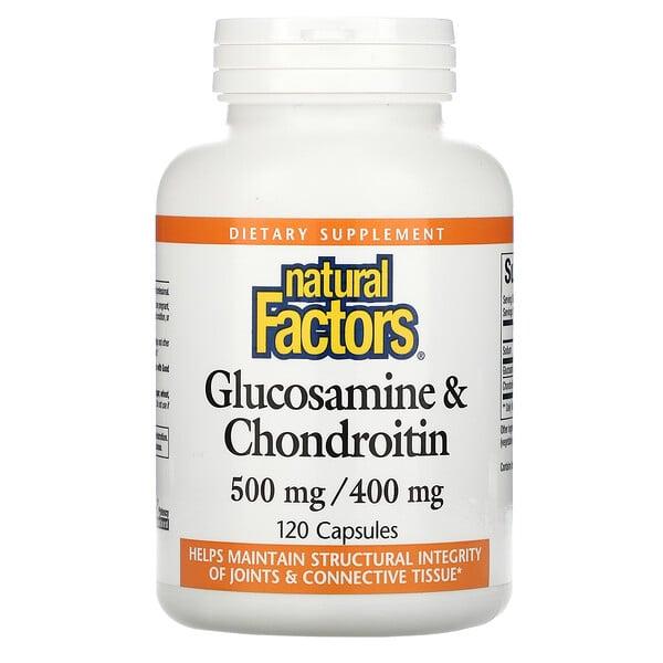 Glucosamine & Chondroitin, 500 mg/400 mg, 120 Capsules