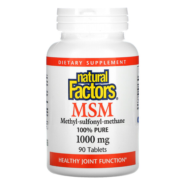MSM, 1000 mg, 90 Tablets