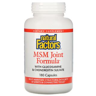 Natural Factors, MSM Fórmula para Articulaciones, 180 Cápsulas