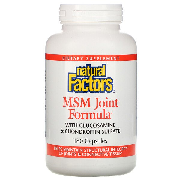 Natural Factors, MSM Joint Formula, 180 Capsules