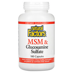 Natural Factors, MSM 和氨基葡萄糖硫酸鹽,180 粒膠囊