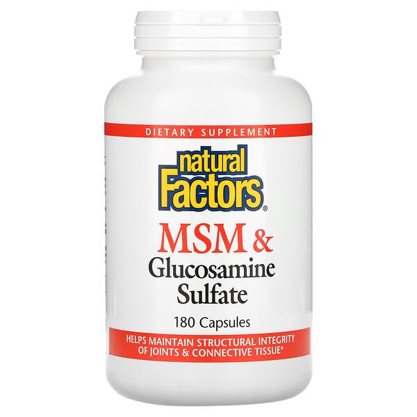 MSM & Glucosamine Sulfate, 180 Capsules