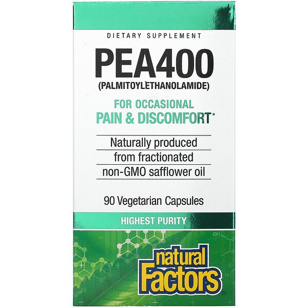 Natural Factors, PEA400, 90 Vegetarian Capsules