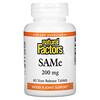 Natural Factors, SAM-e (S-adenosil-L-metionina), 200 mg, 60 Comprimidos com revestimento entérico