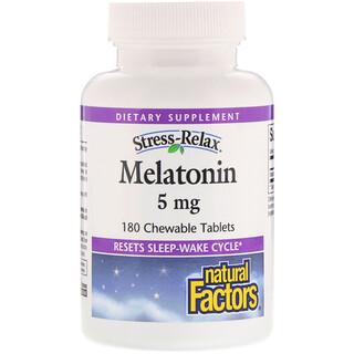 Natural Factors, Stress-Relax،الميلاتونين، 180 قرص للمضغ