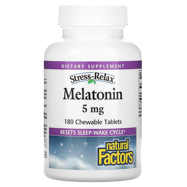 Stress-Relax, Melatonin, 5 mg, 180 Chewable Tablets