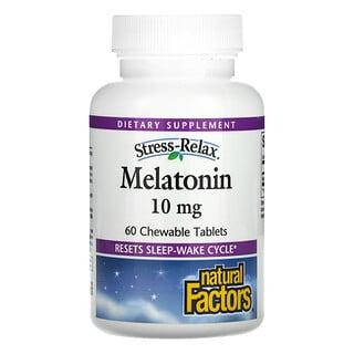 Natural Factors, Stress-Relax, Melatonin, 10 mg, 60 Chewable Tablets