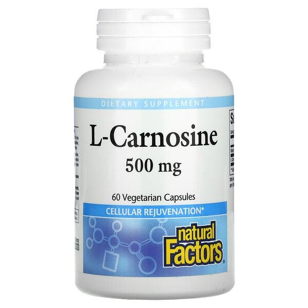 L-Carnosine, 500 mg, 60 Vegetarian Capsules