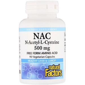 Натурал Факторс, NAC N-Acetyl-L Cysteine, 500 mg, 90 Vegetarian  Capsules отзывы покупателей