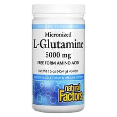 Natural Factors, 微粒化 L-穀氨醯胺粉,5000 毫克,16 盎司(454 克)
