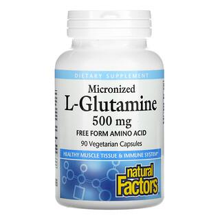 Natural Factors, Micronized L-Glutamine, 500 mg, 90 Vegetarian Capsules